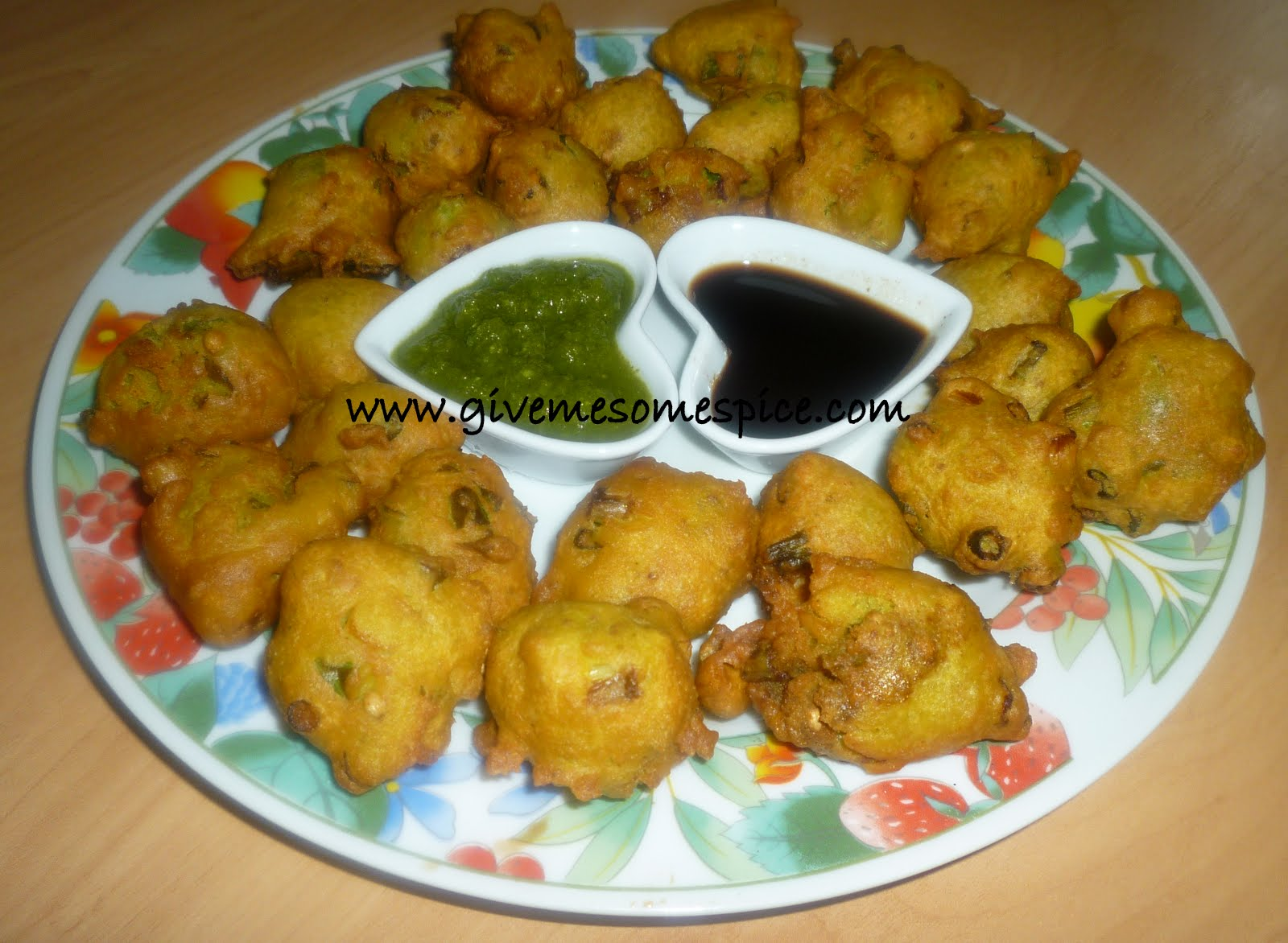 Spring Onion Bhajias - Fritters   Authentic Vegetarian ...
