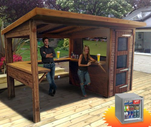 World cup competition to win a garden bar and mini fridge for Food bar garden